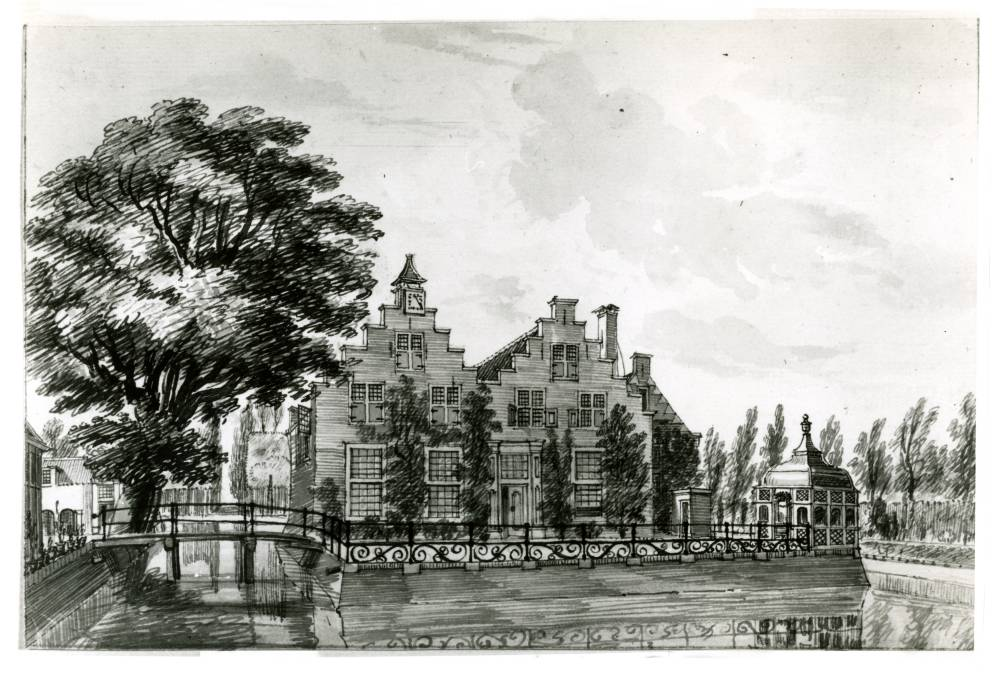 Klein Geerestein in Woudenberg. Tekening Jan de Beijer, 1750